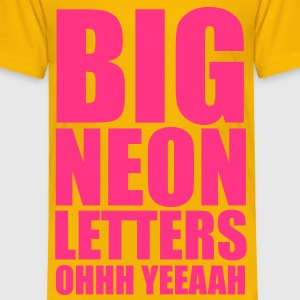 Big Neon Letters Barneskjorter - Premium T-skjorte for barn