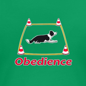 Obedience Border Collie 2 Camisetas - Camiseta premium mujer