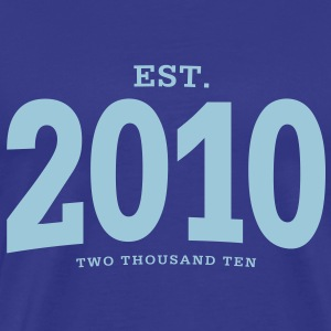 EST. 2010 Two Thousand Ten - Männer Premium T-Shirt