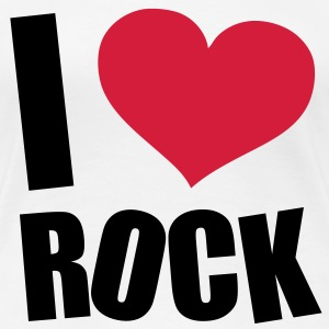 I Love Rock T-shirts - Vrouwen Premium T-shirt