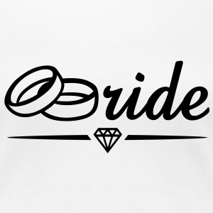 Bride Diamond T-Shirt BW - Women's Premium T-Shirt