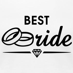 BEST Bride Diamond T-Shirt BW - T-shirt Premium Femme