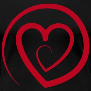 @LOVE Herz by Individual Couture T-Shirts - Frauen Premium T-Shirt