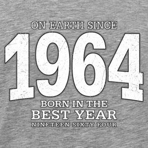 On Earth since 1964 (white oldstyle) - Männer Premium T-Shirt