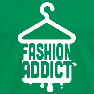 Cool iconic Fashion Addict t-shirts for geek chic fashionista i love clothes shopping T-Shirts - Men's Premium T-Shirt