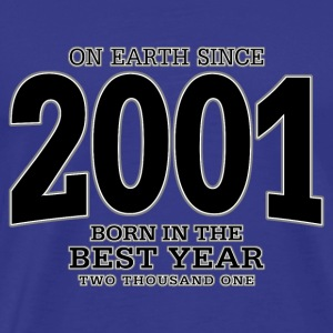 On Earth since 2001 (black) - Männer Premium T-Shirt