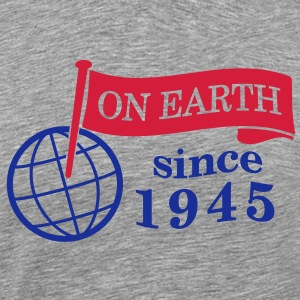 flag on earth since 1945  2c (dk) T-shirts - Herre premium T-shirt