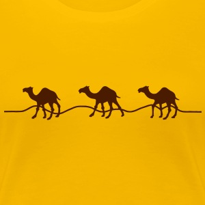 3 camels / dromedaries in the desert T-Shirts - Women's Premium T-Shirt
