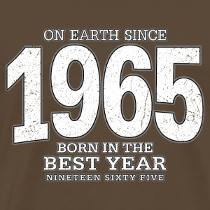 On Earth since 1965 (white oldstyle) - Männer Premium T-Shirt
