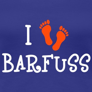 I Love Barfuss T-Shirts - Frauen Premium T-Shirt