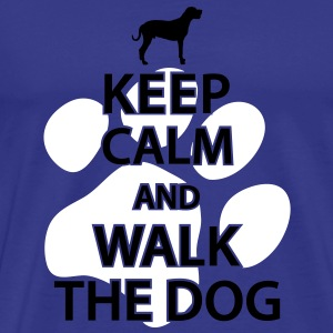 Keep calm and walk the dog T-Shirts - Men's Premium T-Shirt