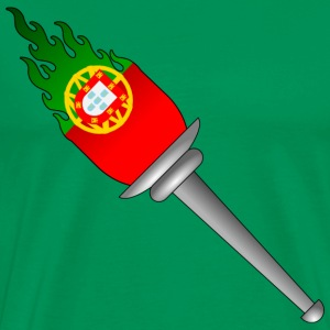 Olympic Flame Torch Summer games, Winter games - Portugal T-Shirts - Men's Premium T-Shirt