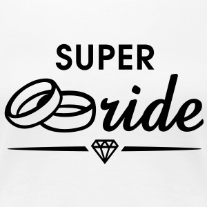 SUPER Bride Diamond T-Shirt BW - T-shirt Premium Femme