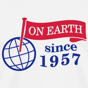 flag on earth since 1957  2c (dk) T-shirts - Herre premium T-shirt