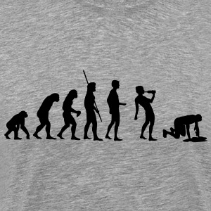 Evolution drinking  T-Shirts - Men's Premium T-Shirt