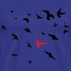 Flocking Birds - Men's Premium T-Shirt