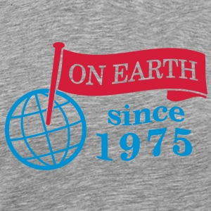 flag on earth since 1975  2c (dk) T-shirts - Herre premium T-shirt