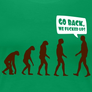 Evolution fucked up T-shirts - Premium-T-shirt dam