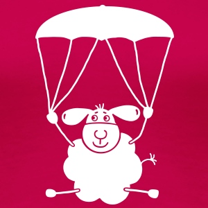 Sheep with parachute T-Shirts - Women's Premium T-Shirt