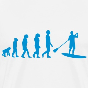 Evolutie, Sup, peddelen staan​​, surfen, surfen Supen, Stand up paddle surfen T-shirts - Mannen Premium T-shirt