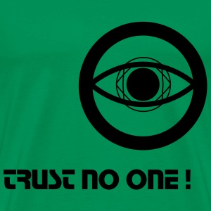 Trust no One - Crop circle - T-shirt Premium Homme