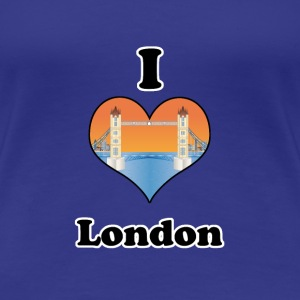 I love London-tower bridge at sundown T-skjorter - Premium T-skjorte for kvinner