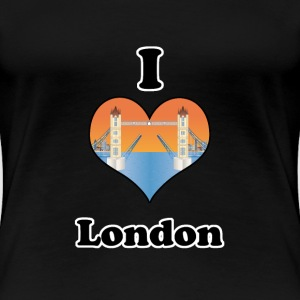 I love London-open tower bridge at sundown T-shirts - Dame premium T-shirt