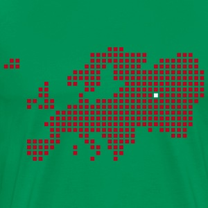 Mosgroen Moskou Europe Map T-shirts - Mannen Premium T-shirt