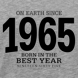 On Earth since 1965 (black) - Männer Premium T-Shirt