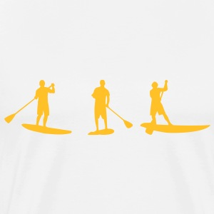 Sup, in piedi paddling, surf, surf, Supen, Stand up paddle surf T-shirts - Maglietta Premium da uomo