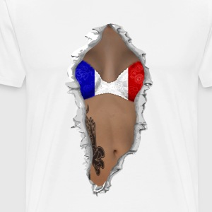 sexy flag france T-Shirts - Men's Premium T-Shirt