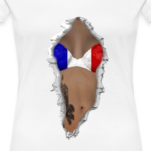 sexy flag france T-shirts - Vrouwen Premium T-shirt