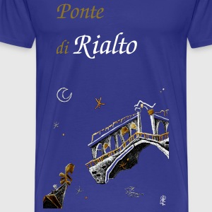Venice Grand Canal - Gondola Rialto Bridge  - Men's Premium T-Shirt