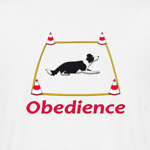 Obedience Border Collie 2 T-shirts - T-shirt herr