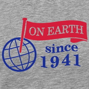 flag on earth since 1941  2c (dk) T-shirts - Herre premium T-shirt