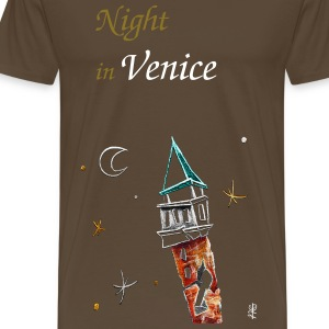 Venice Art Night - Italy Skyline - Men's Premium T-Shirt