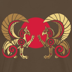 Double Gryphon T-Shirts - Men's Premium T-Shirt