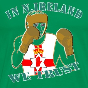 National Boxing in Northern Ireland we trust classic tee shirt - Men's Premium T-Shirt