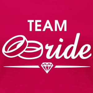 TEAM Bride Diamond T-Shirt WP - Dame premium T-shirt