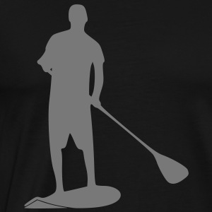 Sup, staand peddelen, surfen, surfen, Supen, Stand up paddle surfen T-shirts - Mannen Premium T-shirt