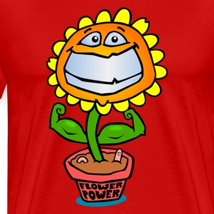 Flower Power T-skjorter - Premium T-skjorte for menn