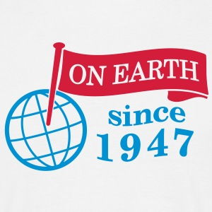 flag on earth since 1947  2c (dk) T-shirts - Herre-T-shirt