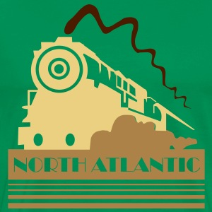 North Atlantic Steam Railway - three colour vector T-Shirts - Men's Premium T-Shirt