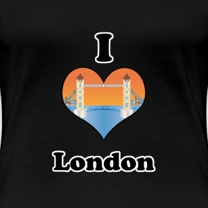 I love London-tower bridge at sundown T-Shirts - Frauen Premium T-Shirt