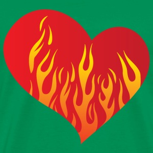 Heart with fire - Männer Premium T-Shirt