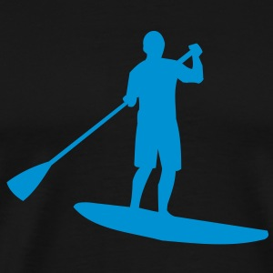 Sup, stående paddling, surfing, surfa, Supen, Stand Up Paddle surfing T-shirts - Premium-T-shirt herr