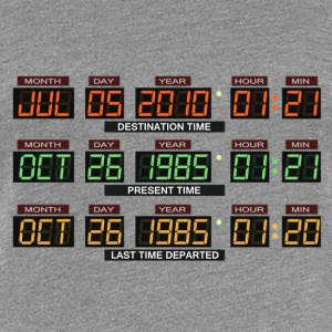 Back to the futur Delorean board - Frauen Premium T-Shirt