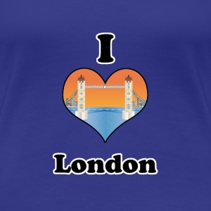 I love London-tower bridge at sundown T-shirt - Maglietta Premium da donna