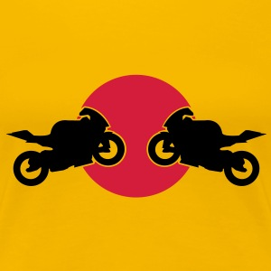 Motorcycles fight  T-Shirts - Women's Premium T-Shirt
