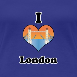I love London-open tower bridge at sundown T-Shirts - Frauen Premium T-Shirt